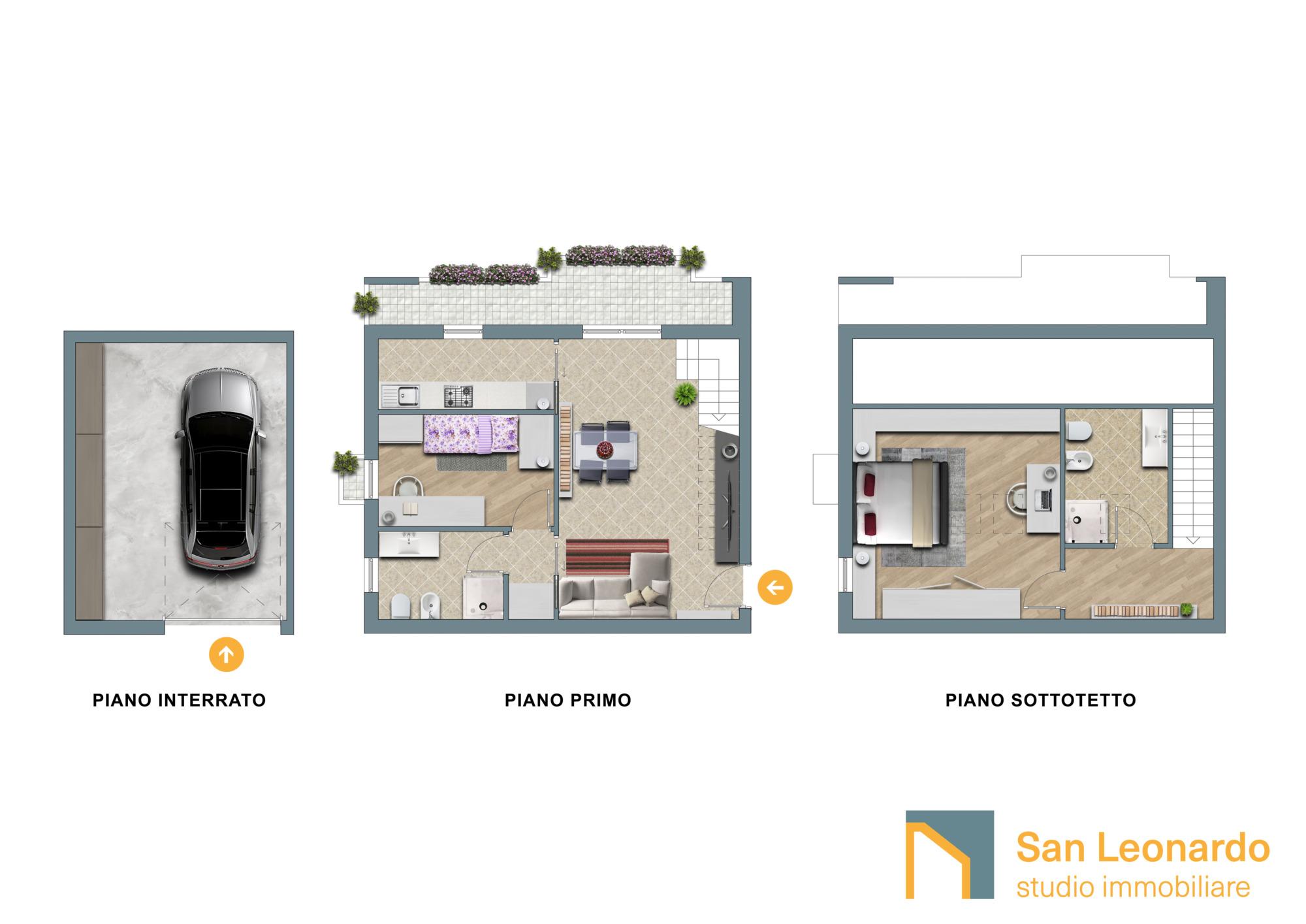 plani d studio san leonardo abitazione