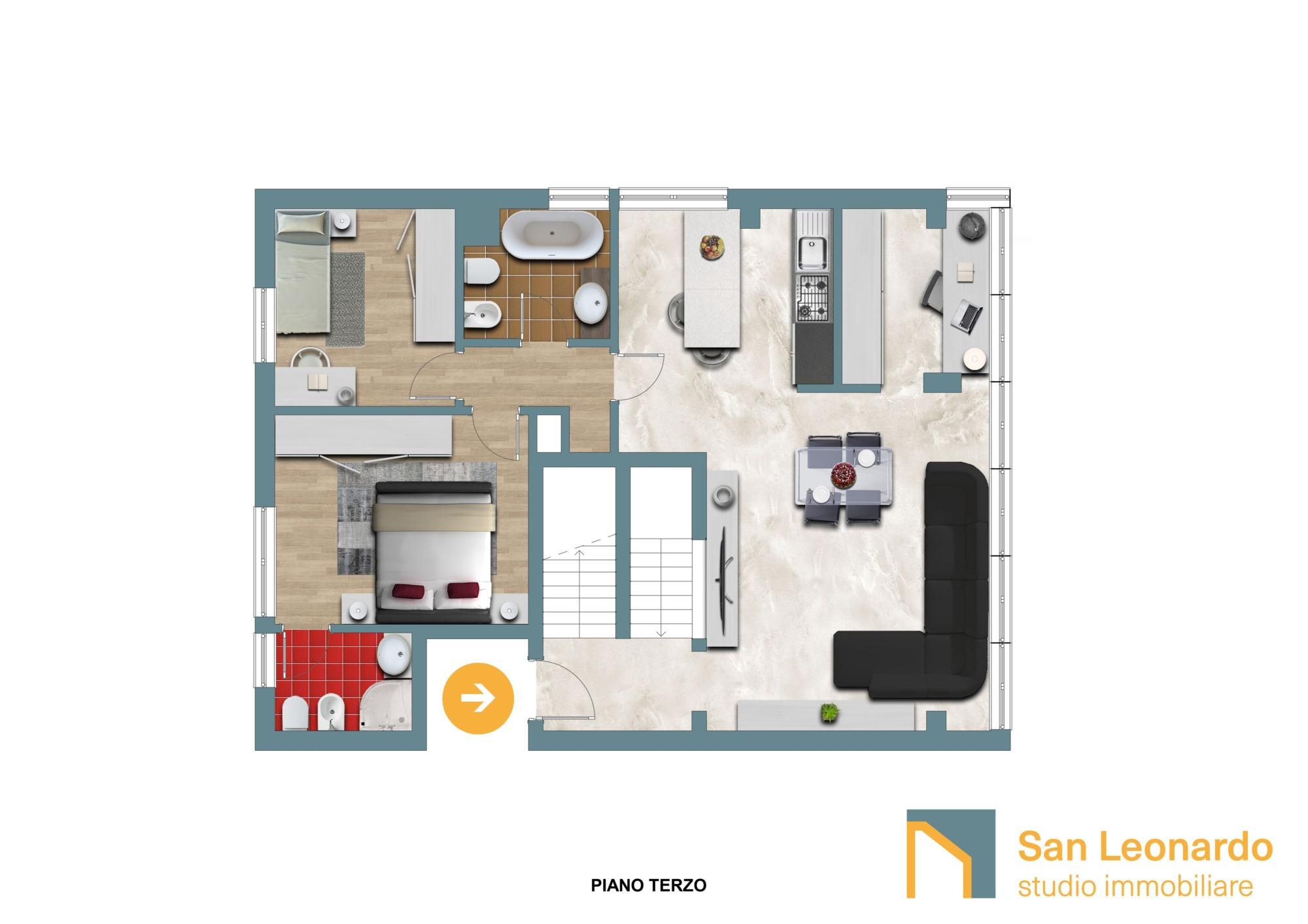 plani d studio san leonardo attico piano terzo mod jpg